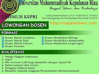 Lowongan Dosen Universitas Muhammadiyah Kepri April 2017