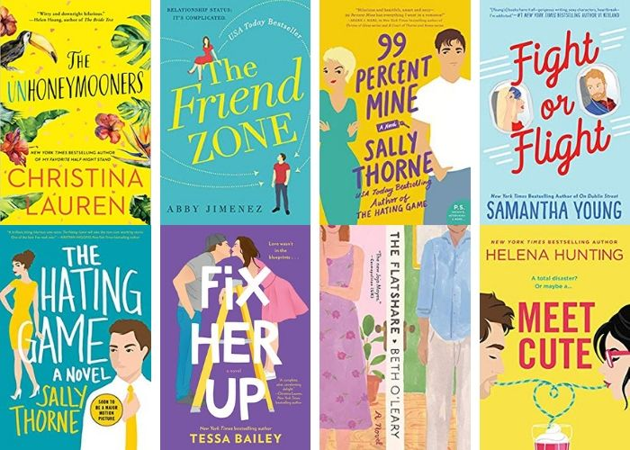 The 10 best romantic comedy books to read. I love these romance books because they are funny, good, and cute reads for 2019. This list of best selling recommended fiction for women has some popular titles and great read for book lovers.  If you need ideas to add to your to read list, check these out.  #books #romcom