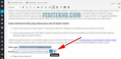 Cara Membuat Link di Klik Menjadi New Tab Pada WordPress 5