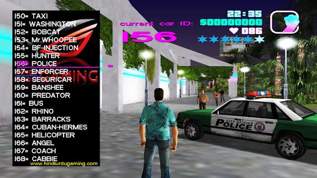 GTA Vice City Car Cheat Menu Mod Pc