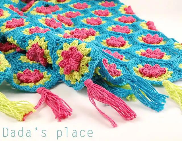 Manta de Hexágonos a Crochet