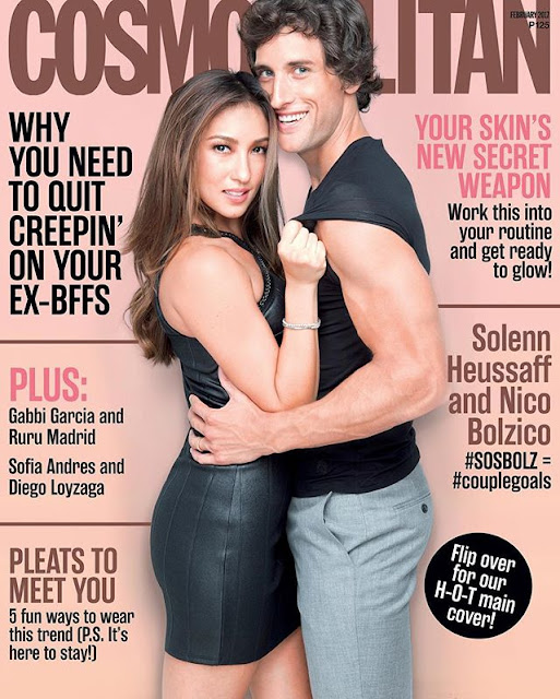 Solenn Heussaff with Nico Bolzico Cosmopolitan February 2017 Cover Issue