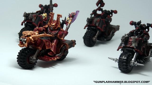 Berserker du Chaos à moto (Chaos Khorne Biker) Warhammer