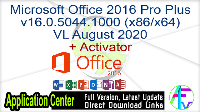 Microsoft Office 2016 Pro Plus v16.0.5044.1000 (x86-x64) VL August 2020 + Activator