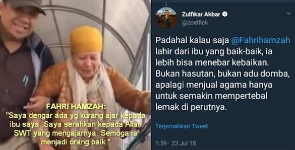 Ini yang Dilakukan Fahri saat Tahu Ibunya Dihina