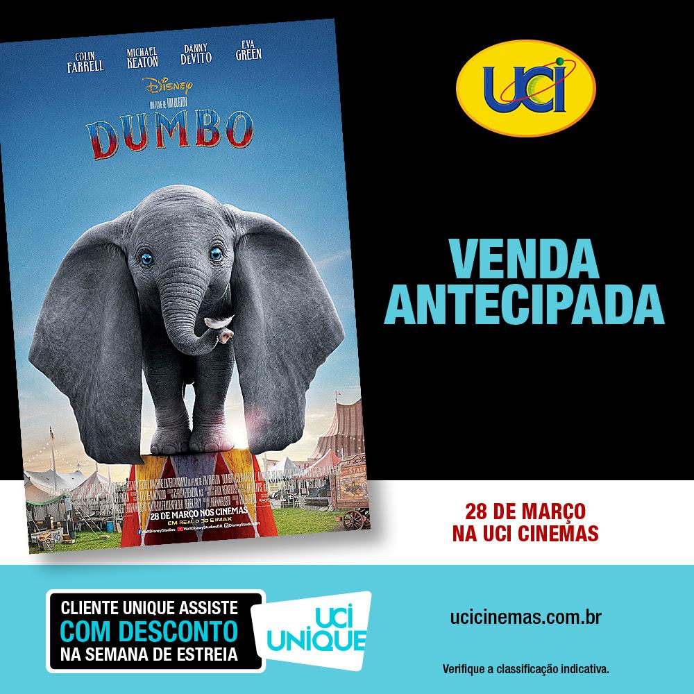 eda41dd6b5ab1 UCI abre pré-venda para live-action de  Dumbo