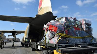 Après la Jordanie, le Maroc envoie au Caire deux autres avions militaires marocains d'aide humanitaire au profit du peuple palestinien
