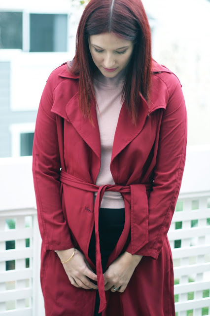 Burgundy duster jacket, ootd, Make me chic, affordable fashion