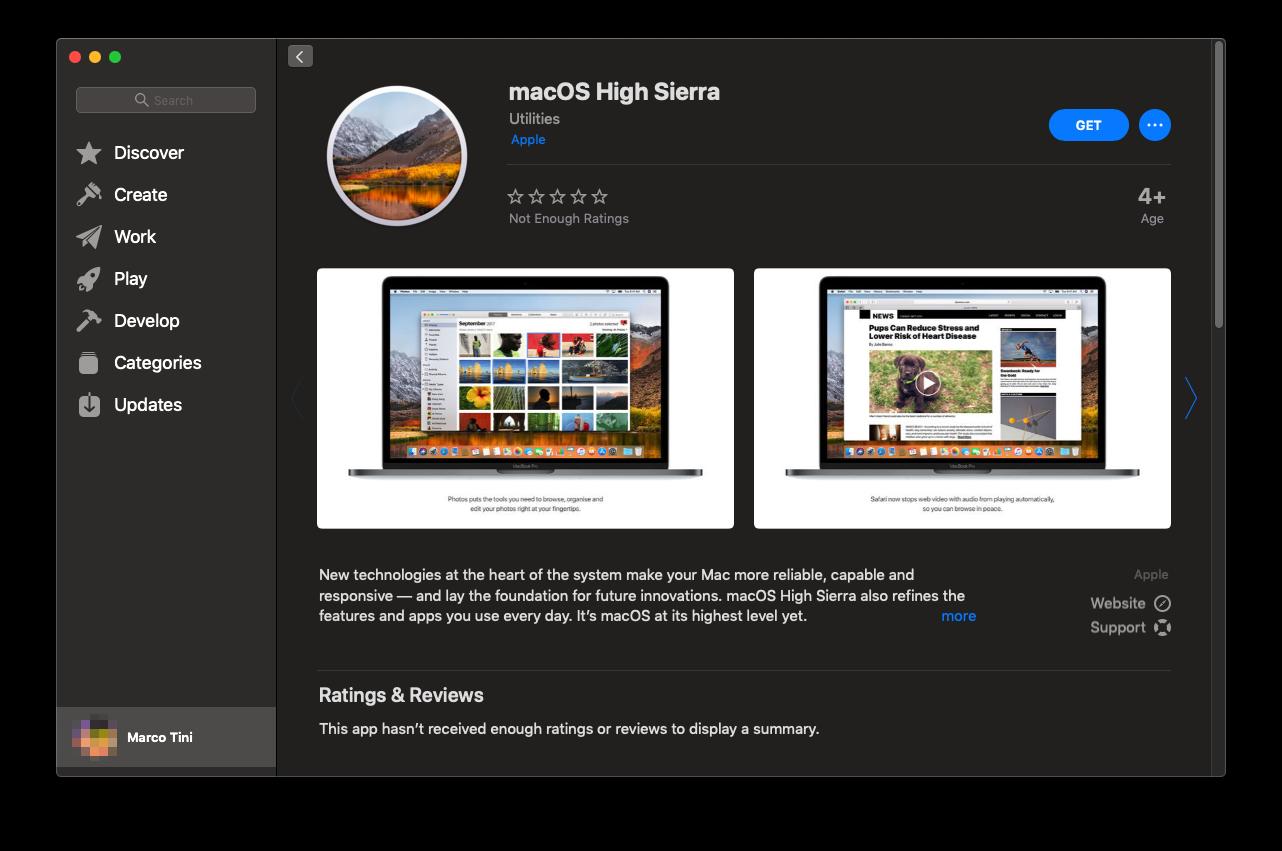 Dove trovare il link diretto per scaricare macOS High Sierra
