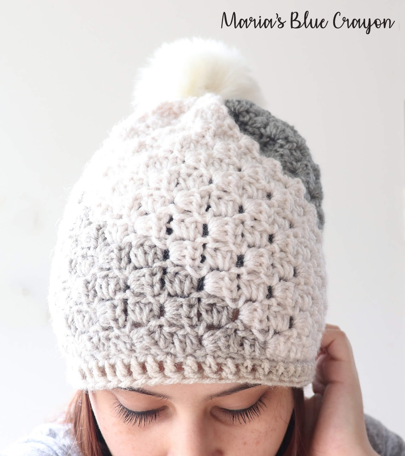 Don t Be A Square Beanie - Free Crochet Hat Pattern - Maria s Blue ... 0c7cc6dae9a