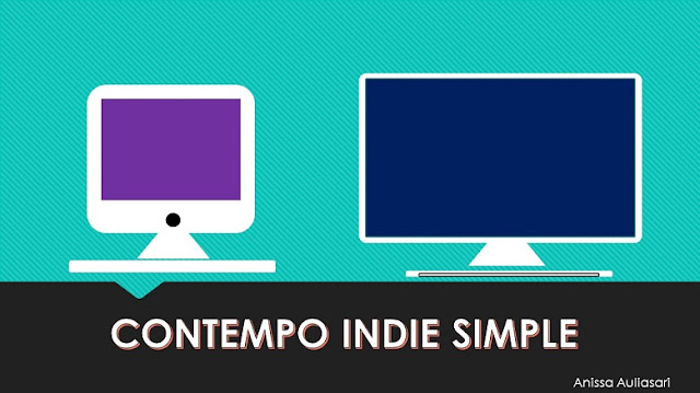 ilustrasi template contempo indie simple