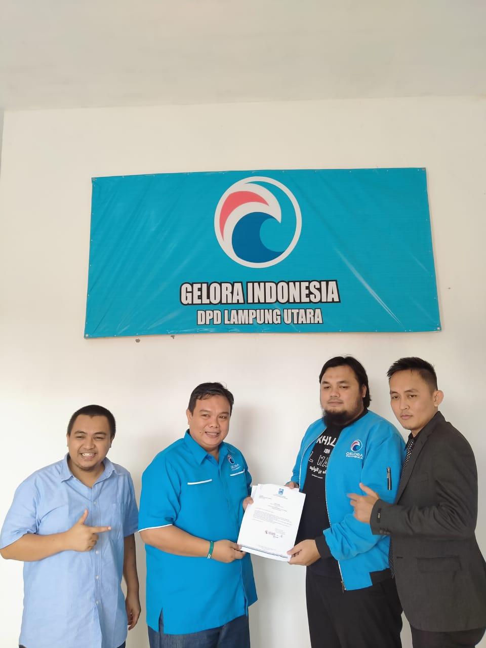 Perkuat Struktur DPW Partai Gelora Lampung, Kunjungi  DPD Lampung Utara.