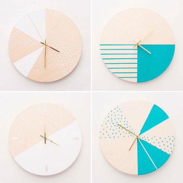 reloj geométrico diy
