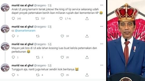 Pasca Kritik Jokowi The King of Lip Service, Mahasiswa UI Dituding Terima Proyek Miliaran