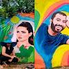 BBB21: Artista plástico homenageia Juliette e Gil com pinturas em muro de Crato
