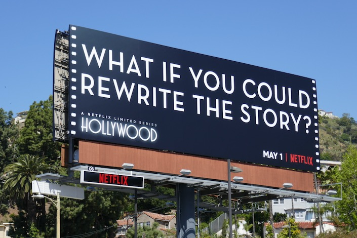 What if you could rewrite the story Hollywood billboard