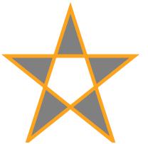 menggambar svg bintang dengan menggunakan laman html