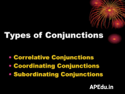 Types of Conjunctions  Coordinating Conjunctions