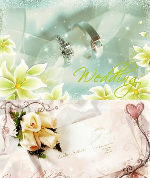FULL WALLPAPER Wedding Card Templates