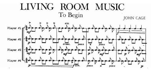 Gambar 25 : Partitur Musik Kontemporer karya John Cage