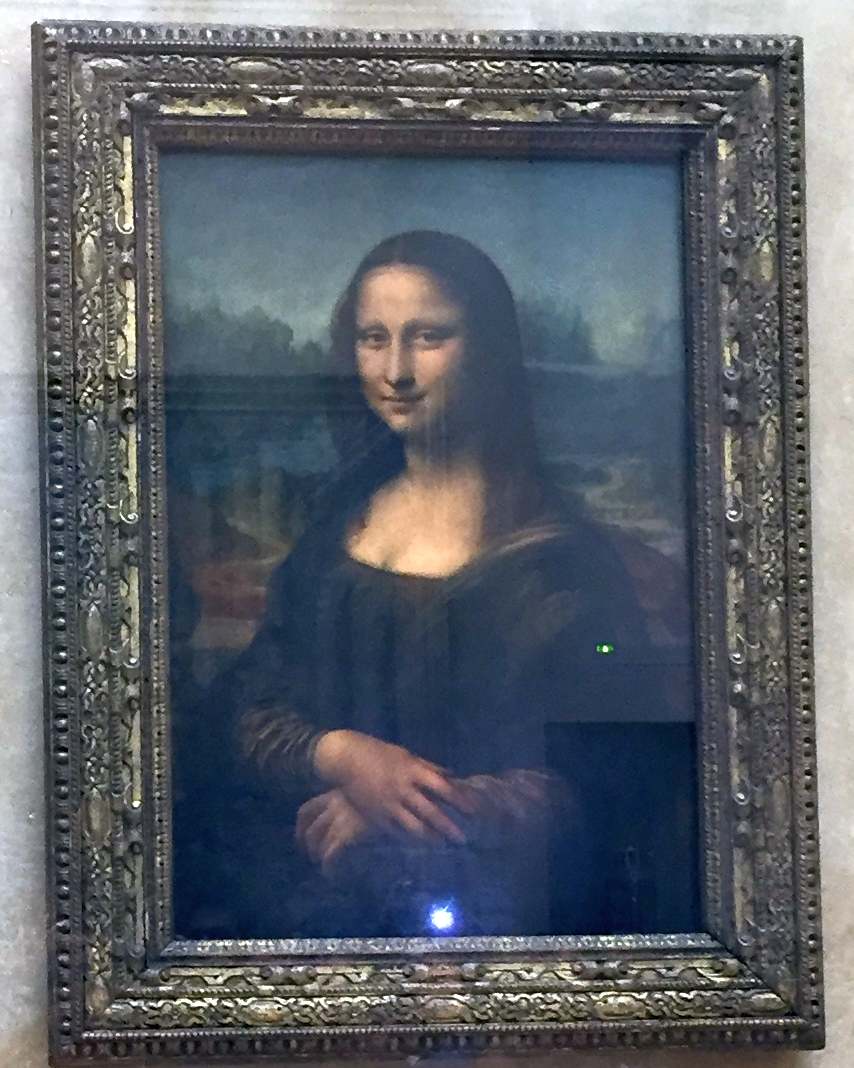 Da Vinci's famous Mona Lisa at Paris