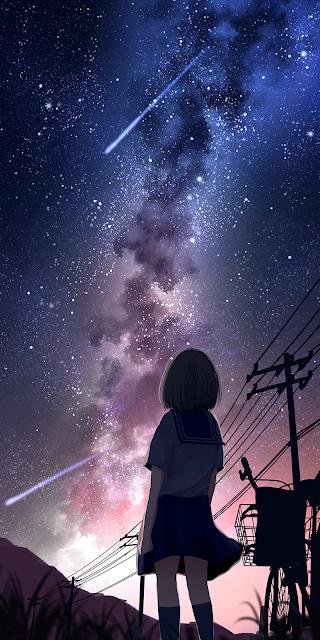 Dãy ngân hà giữa bầu trời đêm