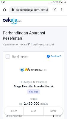 Asuransi kesehatan melalui CekAja