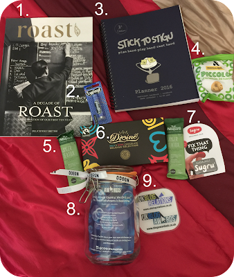 uk blog awards 2016 goody bag contents