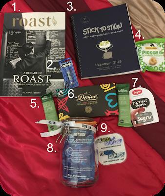 uk blog awards 2016 goody bag contents