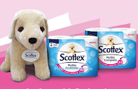 Logo Concorso Scottex '' Vinci il maxi peluche del cucciolo Scottex'' : 800 premi