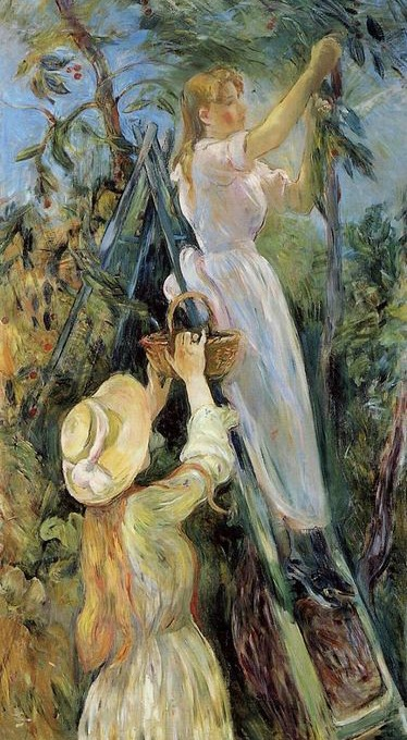 The Cherry Picker. Berthe Morisot · 1891