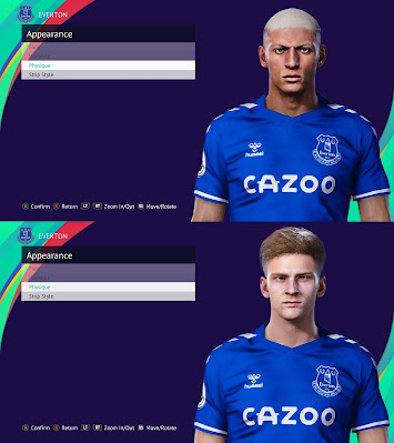 PES 2021 Facepack Anthony Gordon & Richarlison by Owen31