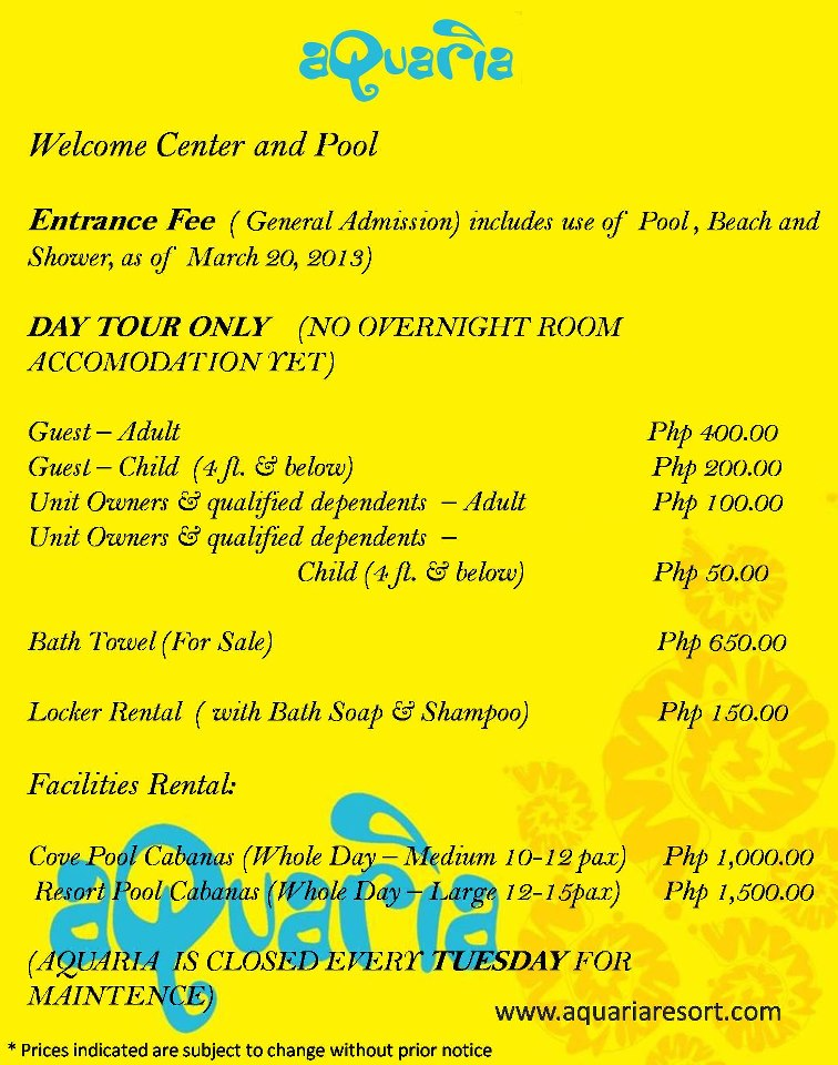 Batangas Beach Resort Aquaria Calatagan