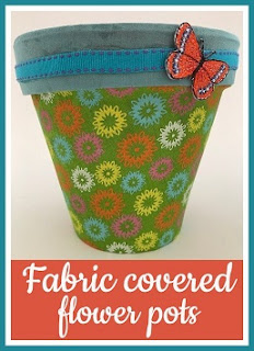 How to make fabric covered flower pots tutorial