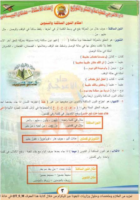 ملزمة الأسلامية للصف السادس الأعدادي للأستاذ عدنان البياتي كاملة 2018