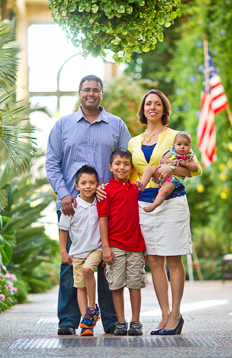 The White-Suppiah Family at Longwood Gardens
