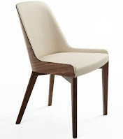 Mid-century living room side chair with wooden base designed by Nuans Design
