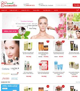 Giao diện Web bán Mỹ Phẩm đẹp - Theme Blogspot - Blogspotdep.com