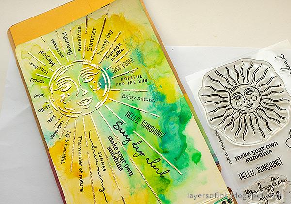 Layers of ink - Sunshine Art Journal Page tutorial by Anna-Karin Evaldsson.