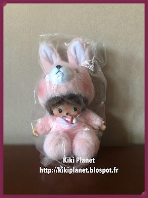 kiki monchhichi bebichhichi animal pink bunny girl référence 235230 kiki la petite sorcière