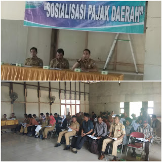 Pemerintah Mensosialisasi Pajak  Daerah dan Restribusi Daerah di Kecamatan Sungai Kakap