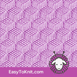 Knit Purl 54: Tumbling Moss Block | Easy to knit #knittingstitches #knitpurl