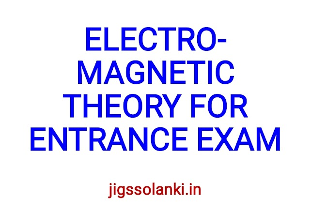ELECTROMAGNETIC THEORY FOR ENTRANCE EXAM