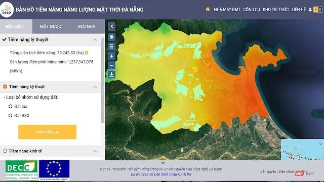Đà Nẵng công bố bản đồ tiềm năng năng lượng mặt trời