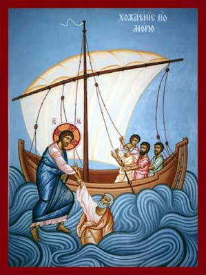 Resultado de imagem para ícone ortodoxo o Senhor anda sobre as águas