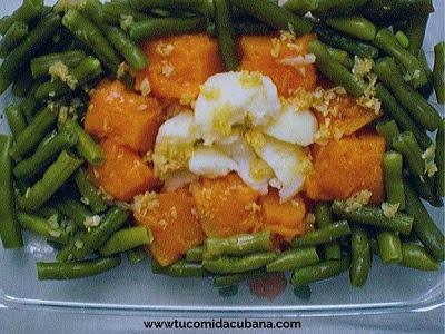 calabaza-habichuela-ensalada