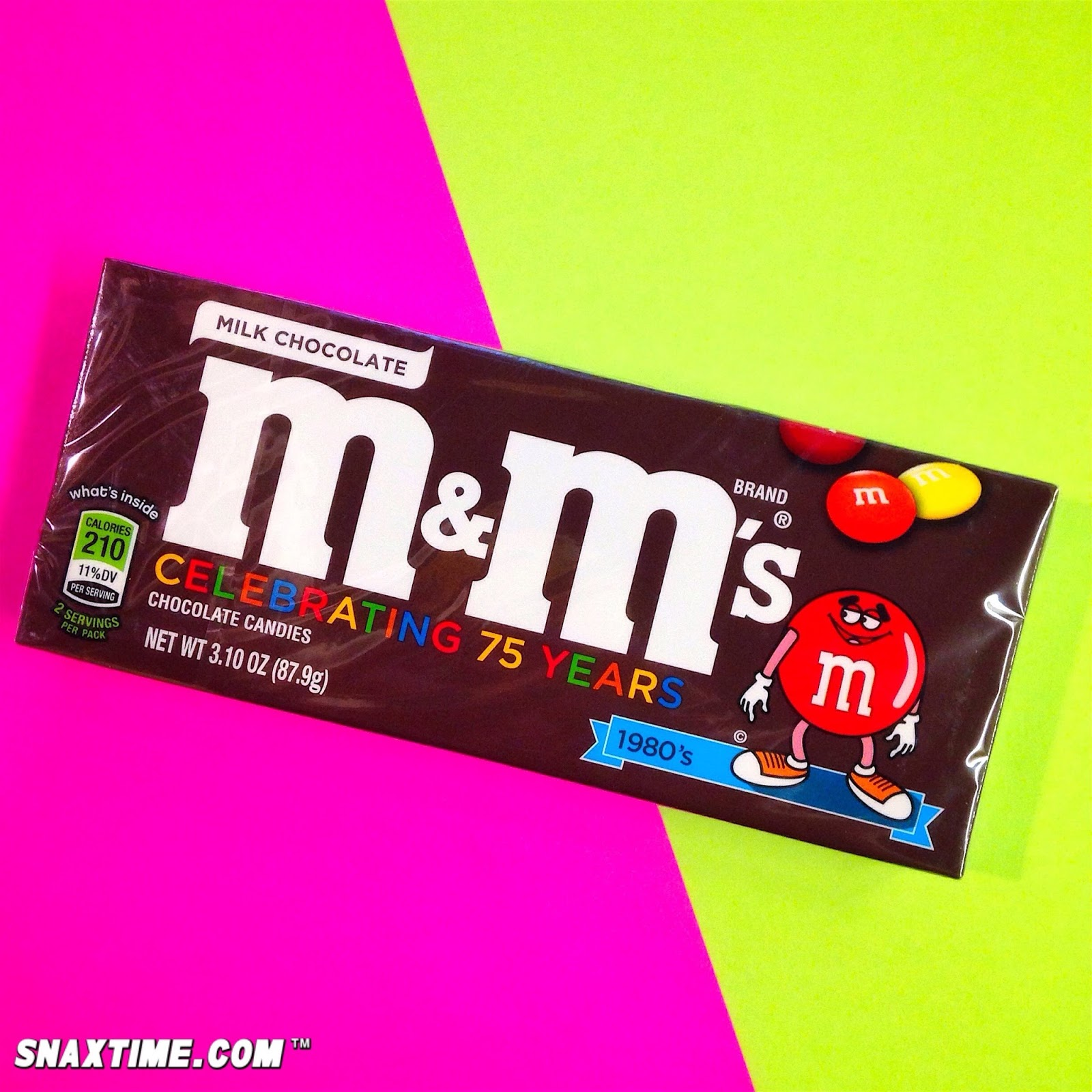 M&M\'s 75th Anniversary 80s Retro Design: COOL BEANS! | Snaxtime