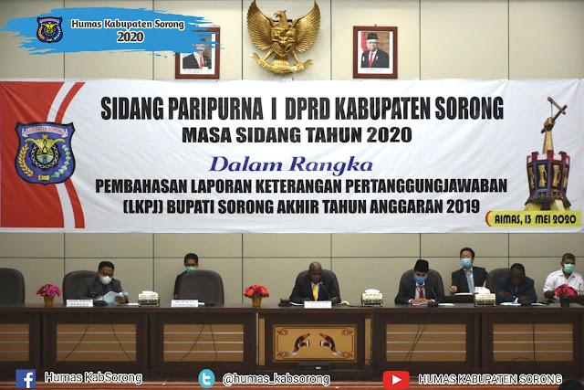 Suka Harjono Sampaikan LKPJ Bupati Sorong  2019 ke DPRD