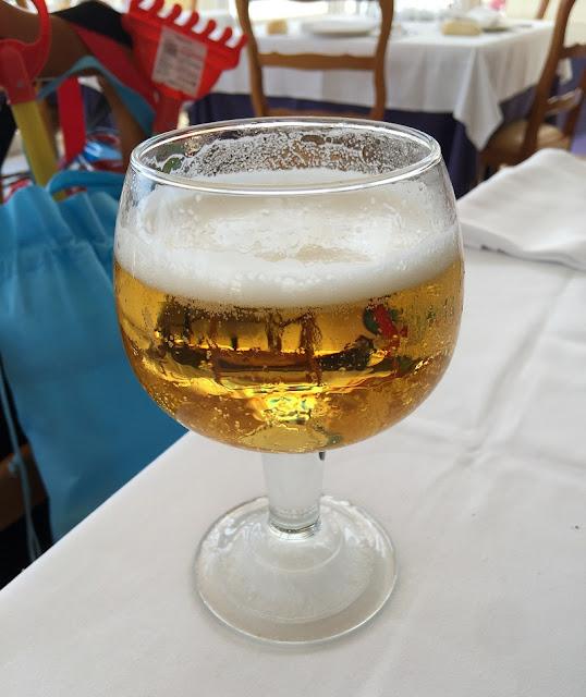 Doble de cerveza del restaurante Ca´l Deu