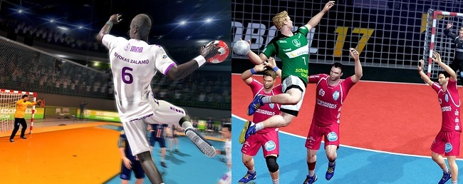 Differences of Handball 21 vs Handball 17 in Graphics